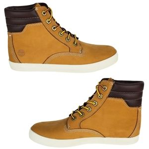 New Timberland dausette leather tan sneakers boots